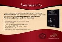 """Lançamento do Livro """"Sobre Poética e Forma em Villa-Lobos - Primitivismo e Estrutura nos Choros Orquestrais"""" do Prof. Guilherme Bernstein 24/03/2015"""