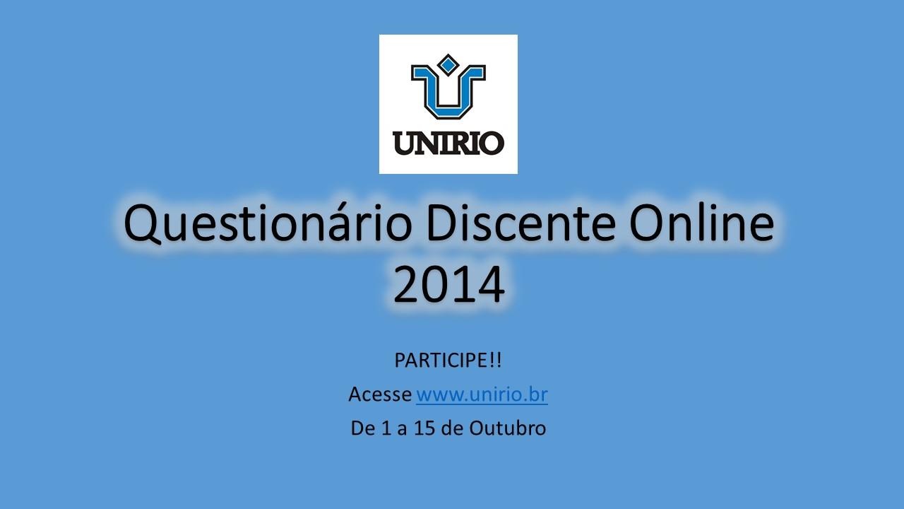 Questionário Discente Online 2014